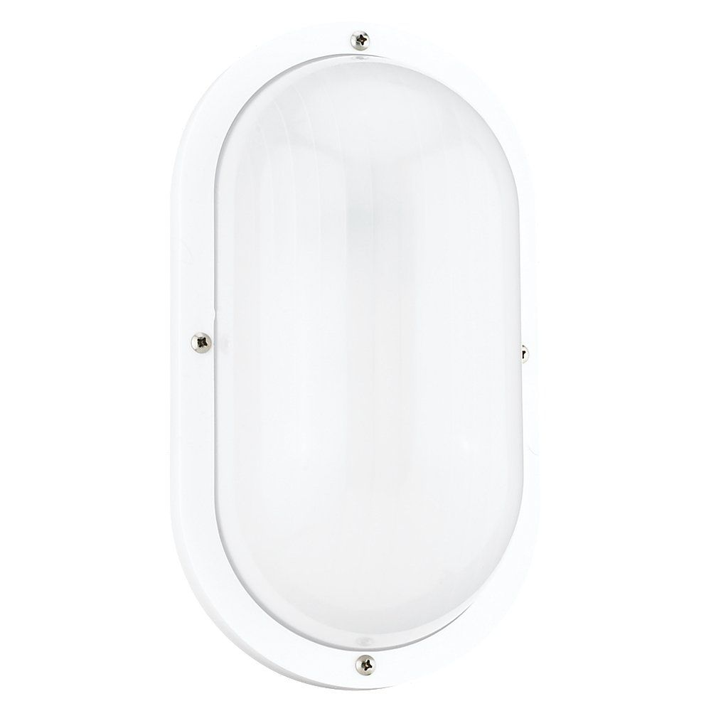1 Light White Incandescent Outdoor Wall Sconce