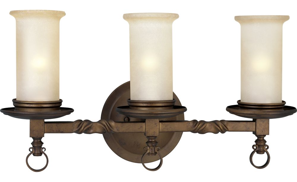 Santiago Collection Roasted Java 3-light Wall Sconce