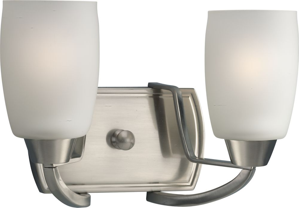 Wisten Collection Brushed Nickel 2-light Vanity Fixture