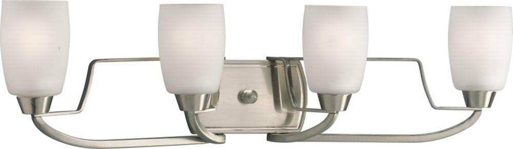 Wisten Collection Brushed Nickel 4-light Vanity Fixture