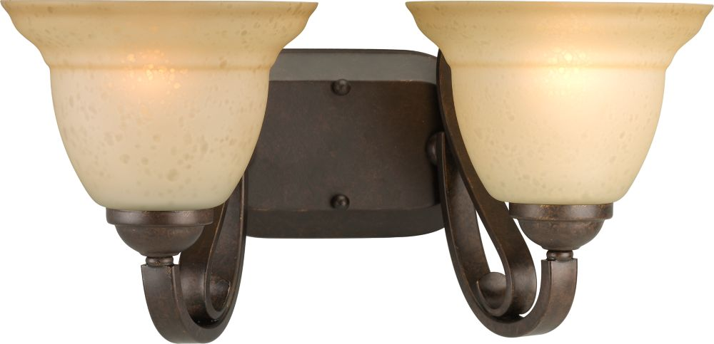 Torino Collection Forged Bronze 2-light Wall Bracket