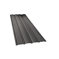 Rainwear 16-inch x 10 ft. Aluminum Vented Soffit in Black
