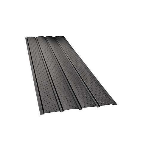 Peak Products 4-Panel Vented Soffit, 10 Feet - Black