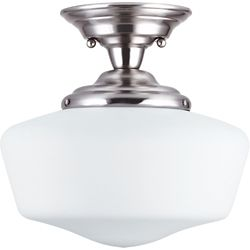 Sea Gull Lighting 1-Light Brushed Nickel Semi-Flush