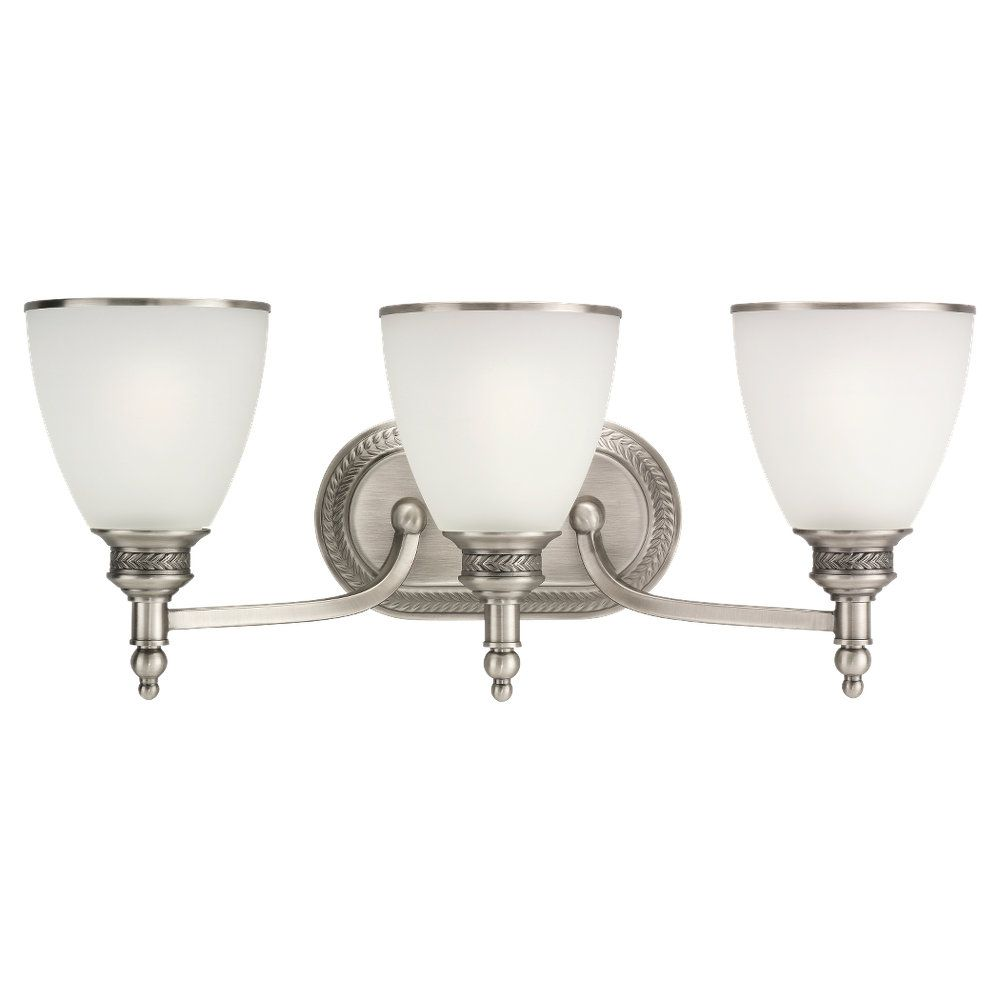 3-Light Antique Brushed Nickel Wall Sconce