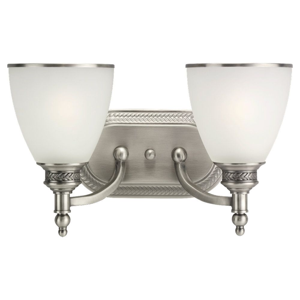2 Light Antique Brushed Nickel Incandescent Wall Sconce