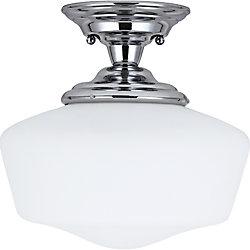 Sea Gull Lighting 1 Light Chrome Fluorescent Semi-Flush