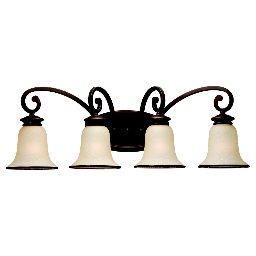 4 Light Misted Bronze Incandescent Wall Sconce