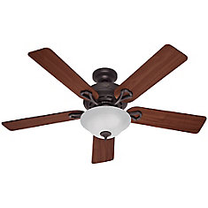 Hampton bay glendale brushed nickel ceiling fan 52 inch the 52 in kensington ceiling fan bronze finish mozeypictures Image collections