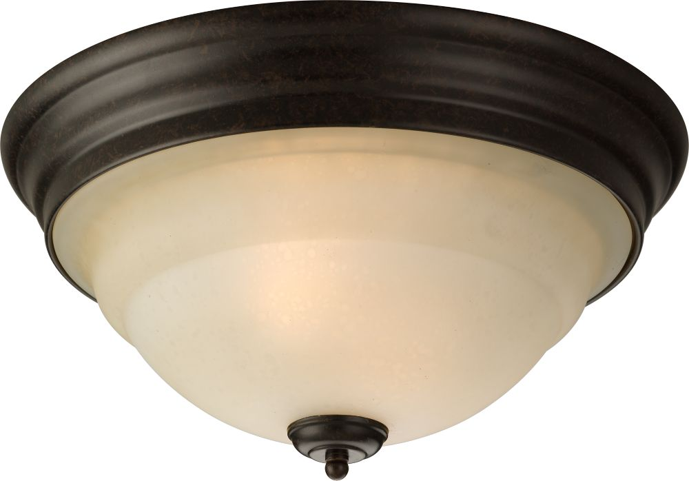 Torino Collection Forged Bronze 2-light Flushmount