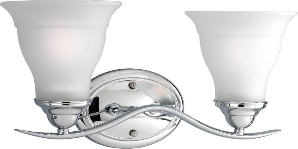 Trinity Collection Chrome 2-light Wall Bracket