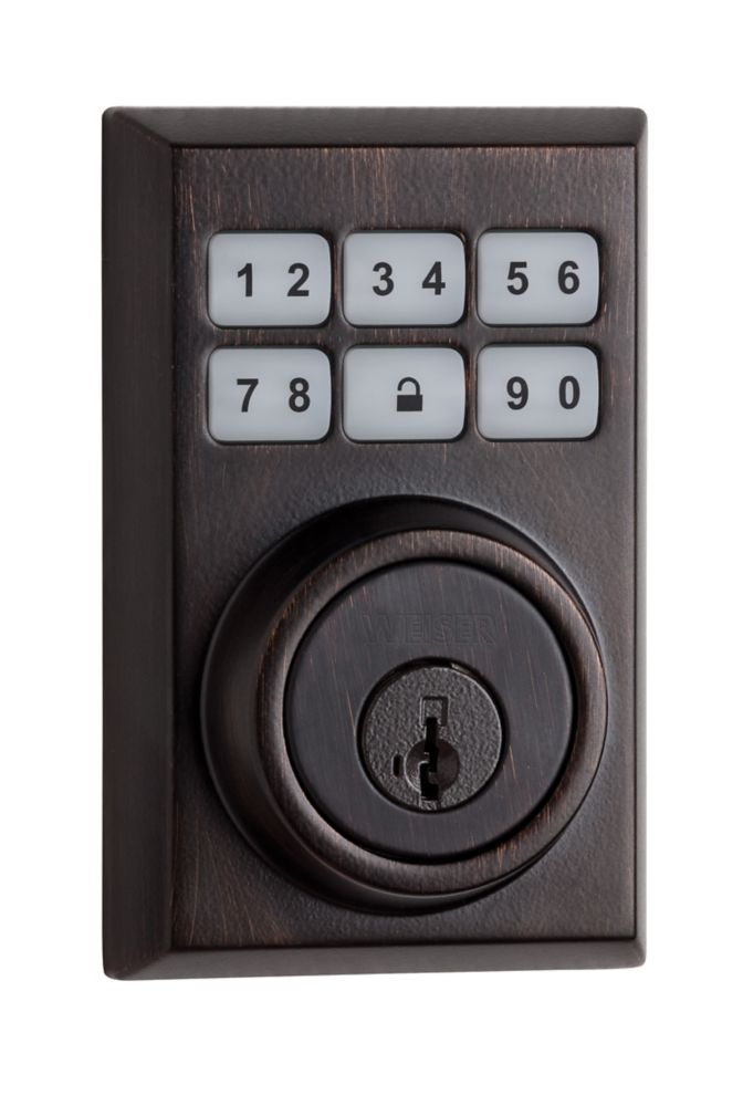 SmartCode Venetian Bronze Keyless Entry Combination Lock and Lever Set