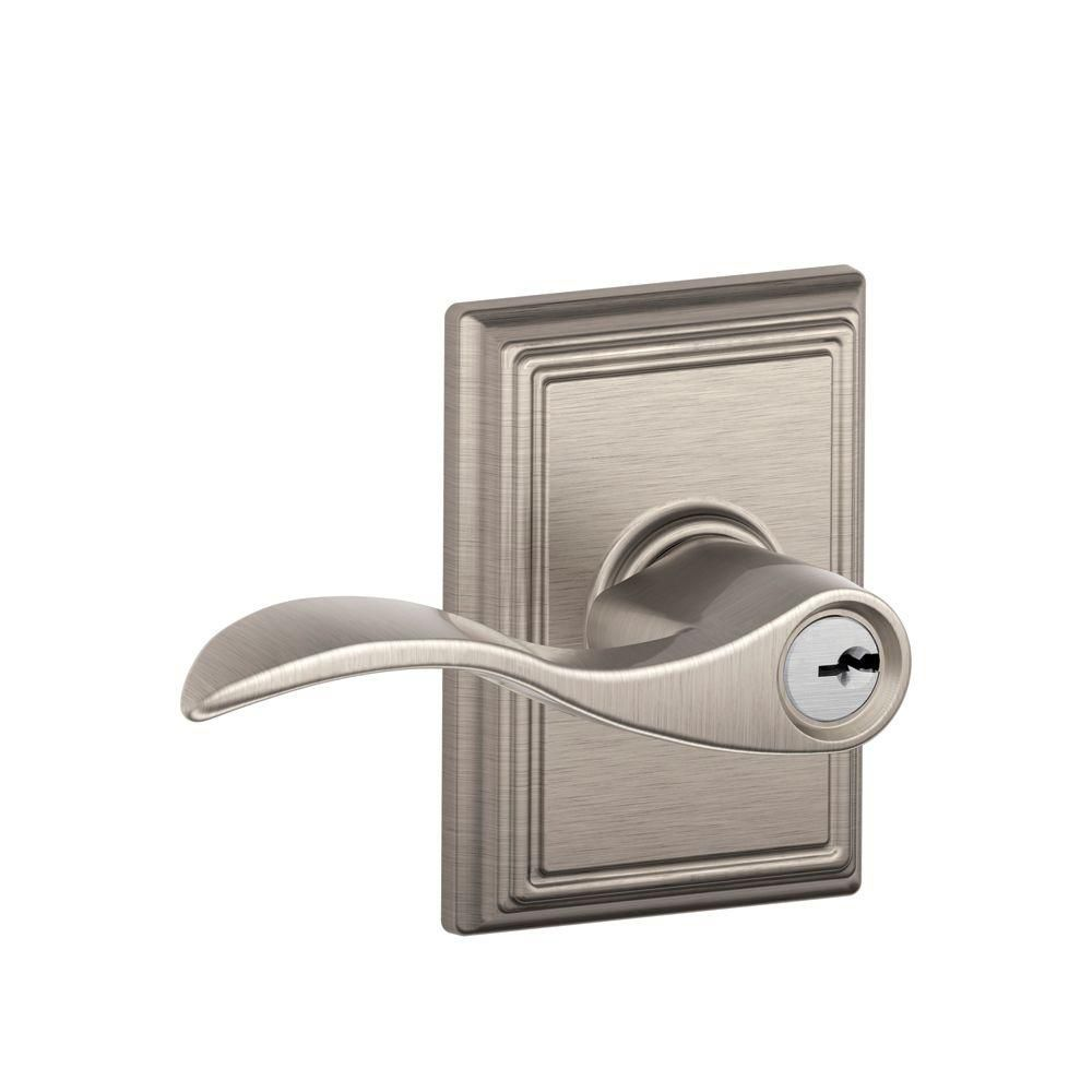 Accent Satin Nickel Keyed Entry