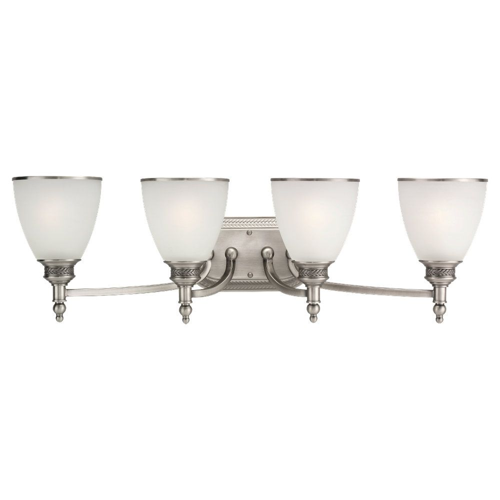 4-Light Antique Brushed Nickel Wall Sconce