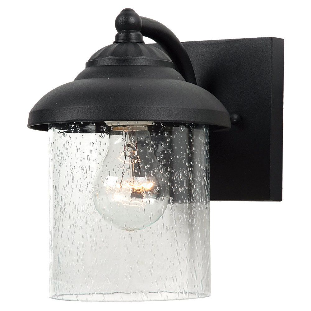 1 Light Black Incandescent Outdoor Wall Sconce