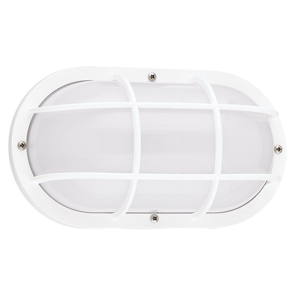 1 Light White Fluorescent Outdoor Wall Sconce