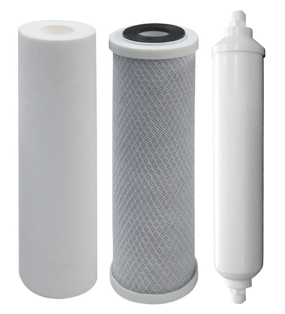 Replacement Filters 4-Stage RO System, 1 year supply - Sediment, Carbon & Polishing filters