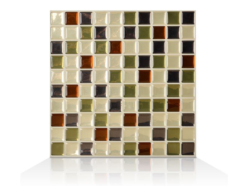 6 - Piece 10.25 Inch x 10.65 Inch Peel and Stick Idaho Mosaik