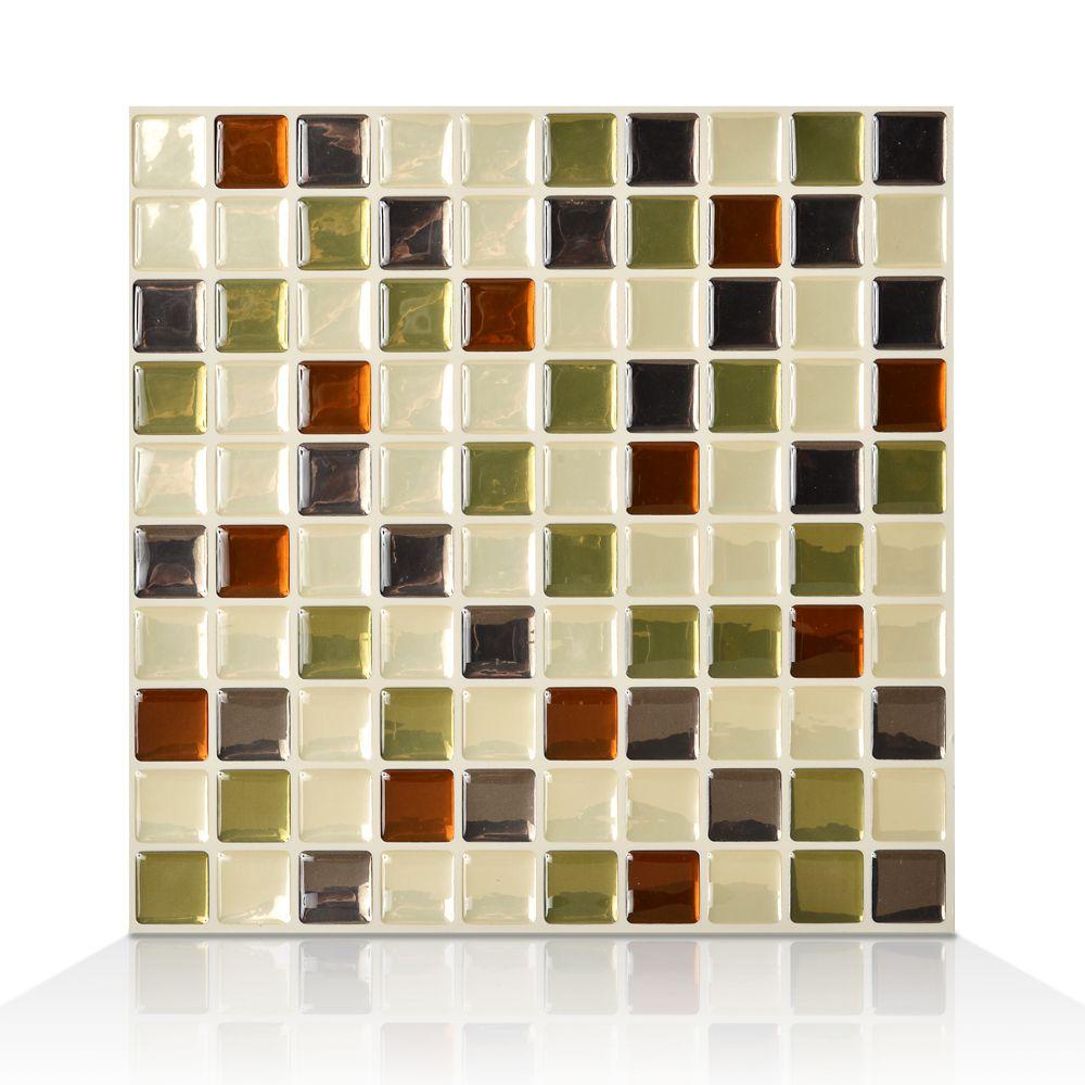 1 - Piece 9.85 Inch x 9.85 Inch Peel and Stick Idaho Mosaik