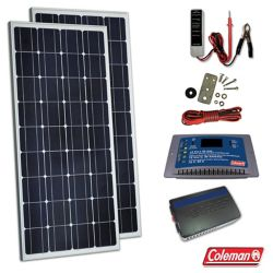 Coleman Coleman 260W Solar Kit with Controller and Inverter