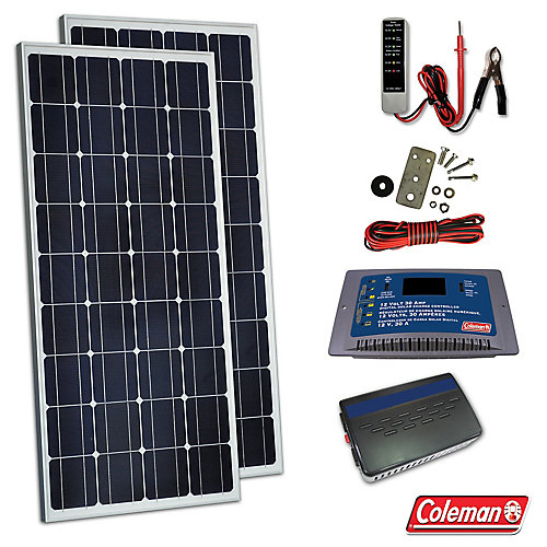 170W Solar Kit with Controller and Inverter