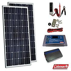 Kit solaire 170W avec contrôleur et onduleur