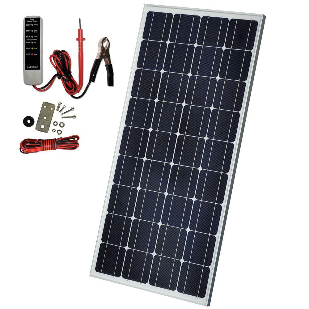 130W Crystalline Solar Panel