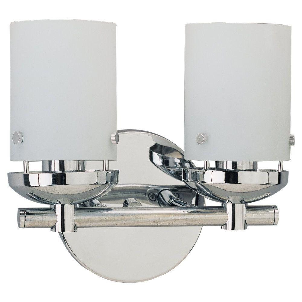 2-Light Chrome Bathroom Vanity