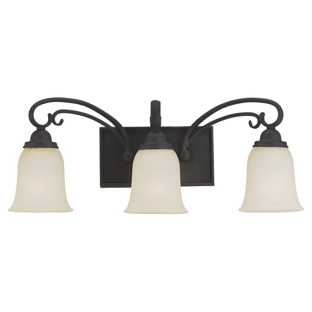 Lumière Seagull fixée au mur à trois ampoules avec abat-jour de spécialité, Fini bronze