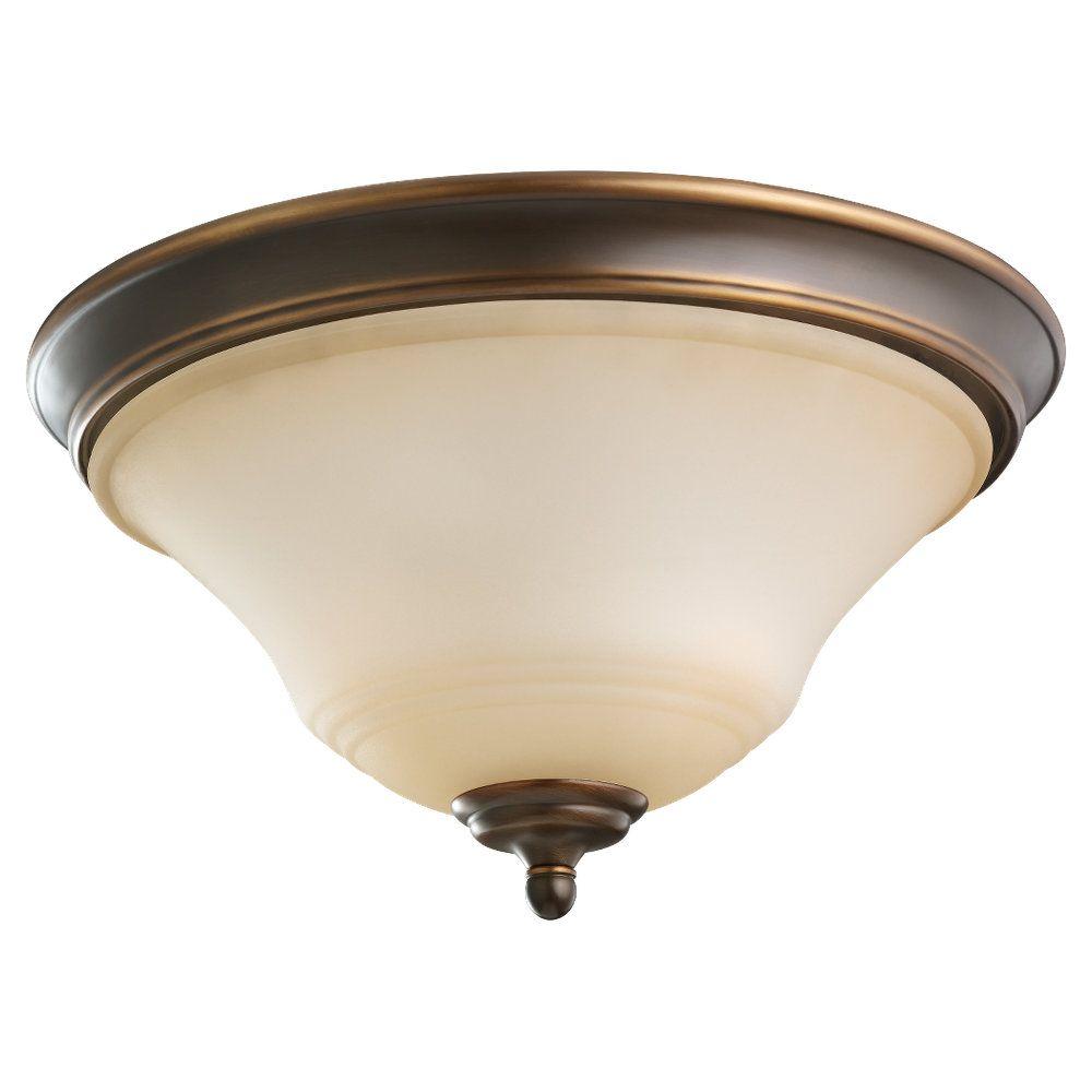2 lumières Russet Bronze Incandescent encastré