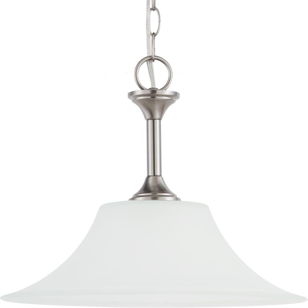 Sea Gull Lighting 1-Light Brushed Nickel Pendant