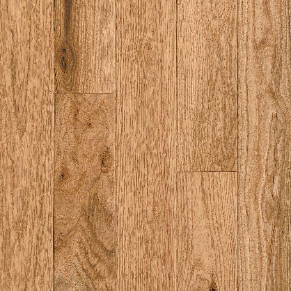 C/S 12,7x 0,9cm Plancher AV en bois dingénierie raclé chêne Natural - (25 pi. carré par caisse)