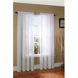 Thermasheer WEATHERPLUS Insulated Sheer Curtain, White - 50 Inch x 84 Inch