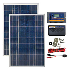200 Watt, 12 Volt Solar Backup Kit