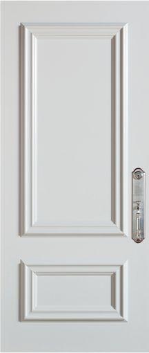 36-inch x 80-inch Steel Stanguard Maxi Mold Stancoat White Max Steel Door with Left Hand Hinge