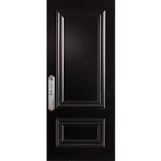Incroyable 37.375 Inch X 82.375 Inch 2 Panel Painted Black Right Hand Inswing Steel  Stanguard Maximold Front Door