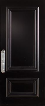 36-inch x 80-inch Steel Stanguard Maxi Mold Stancoat Black Max Steel Door with Right Hand Hinge