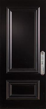 36-inch x 80-inch Steel Stanguard Maxi Mold Stancoat Black Max Steel Door with Left Hand Hinge