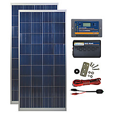 300 Watt, 12 Volt Solar Backup Kit