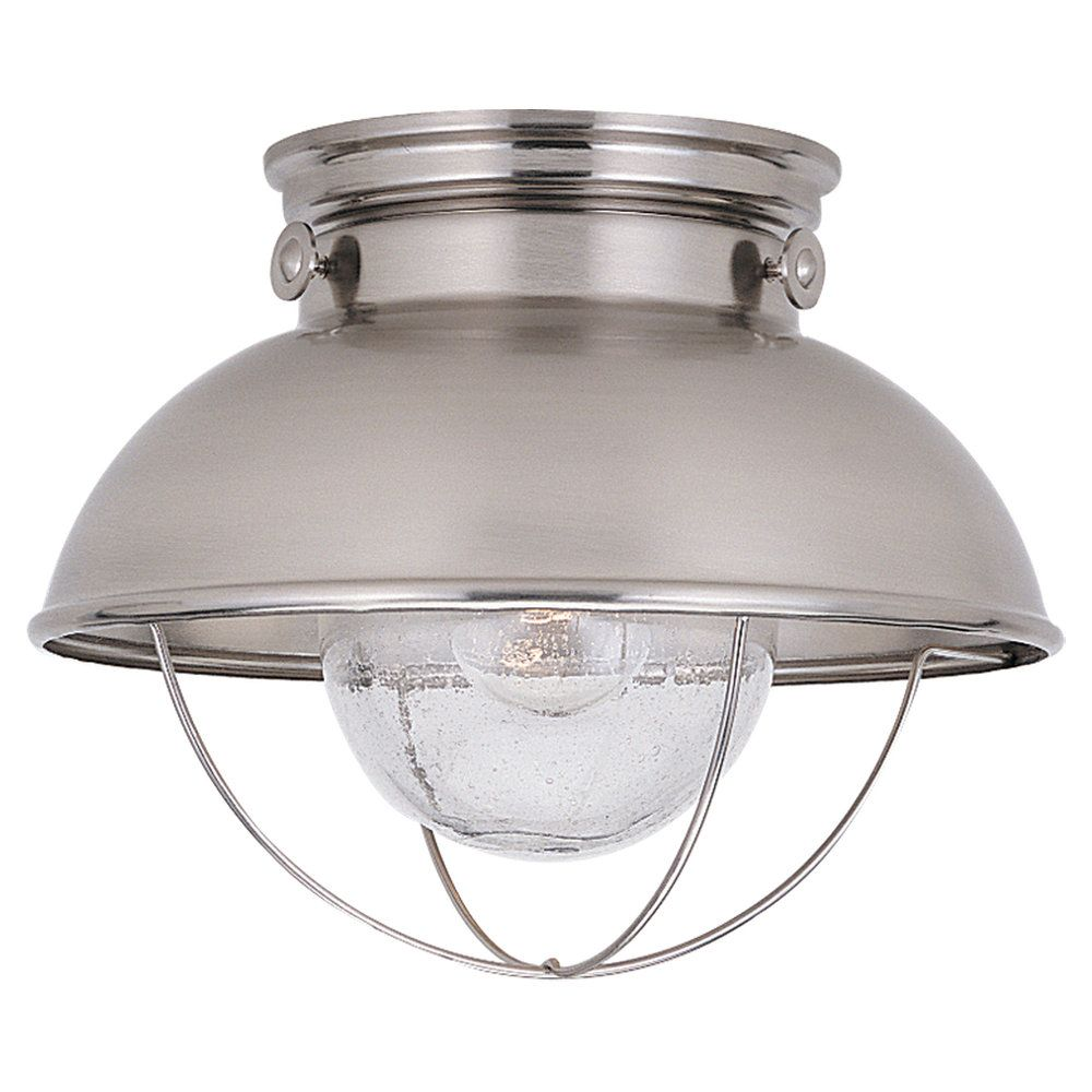 1 Light Brushed Stainless Incandescent Outdoor Ceiling Fixture 8869-98 Canada Discount