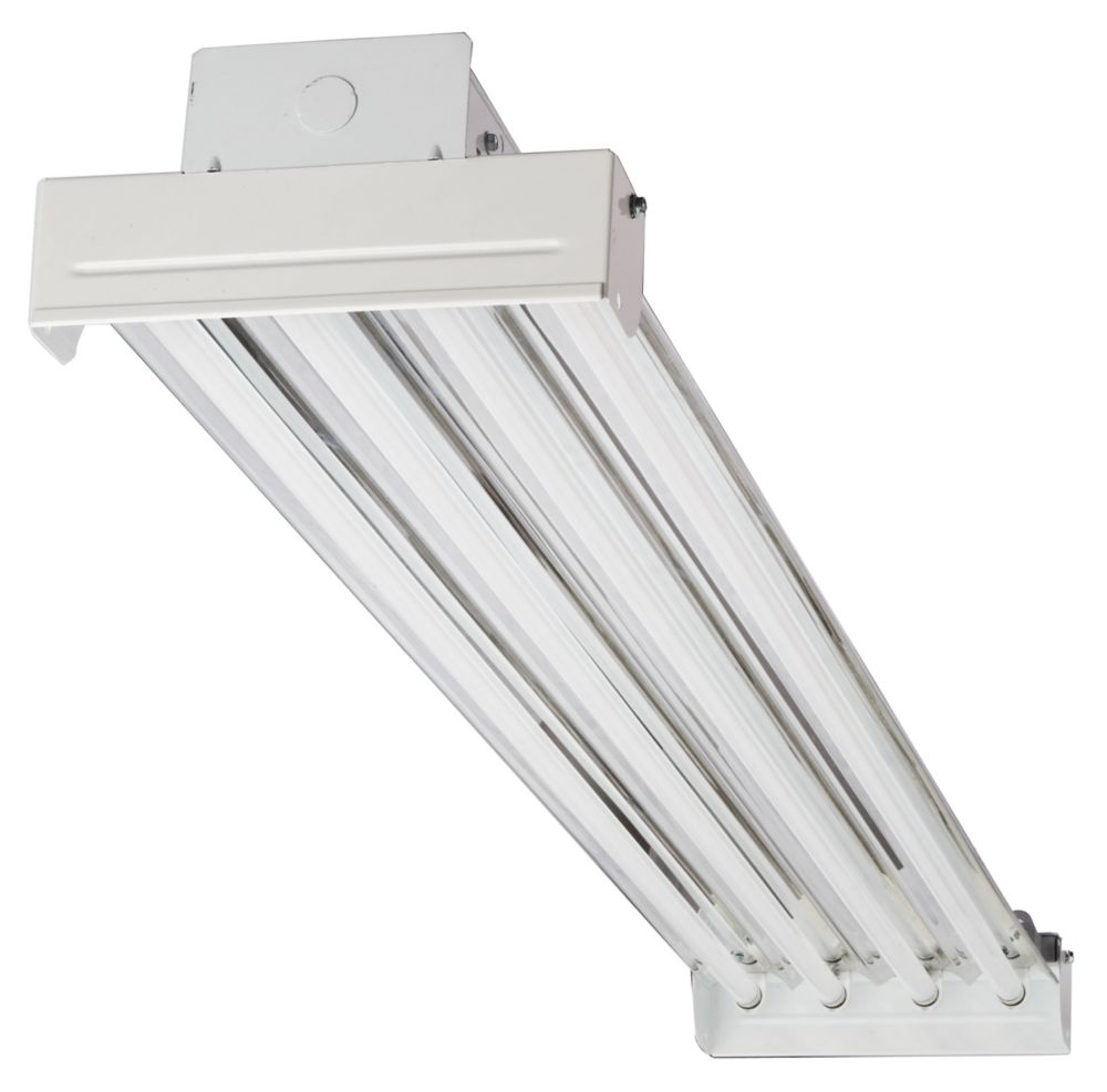 Lithonia Lighting Ibc 454 Mv 4 Light T5 White High Output Fluorescent Bay The Home Depot Canada