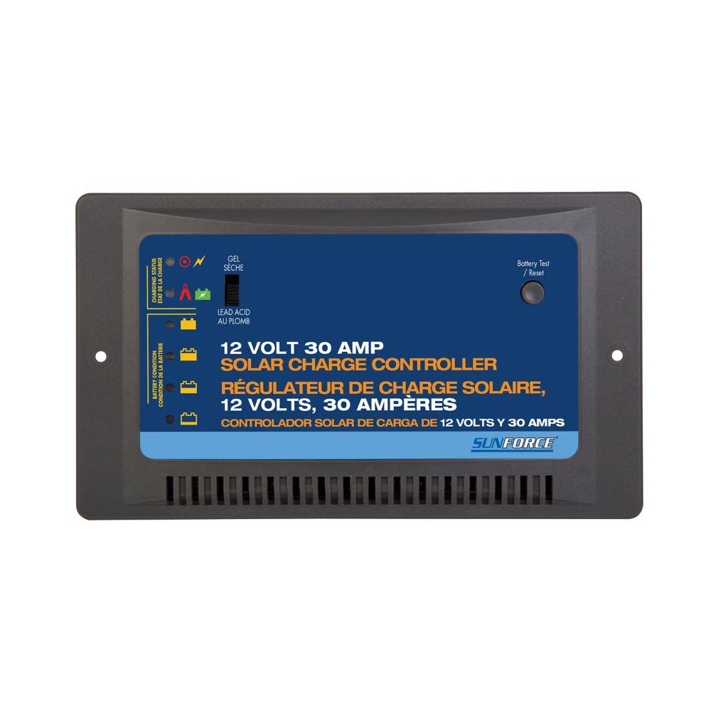 Sunforce 60022 Rgulateur De Charge Solaire 12 Volts 30 Ampres