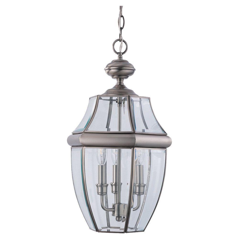 Lustre Seagull à une ampoule avec abat-jour clair, finition de spécialité