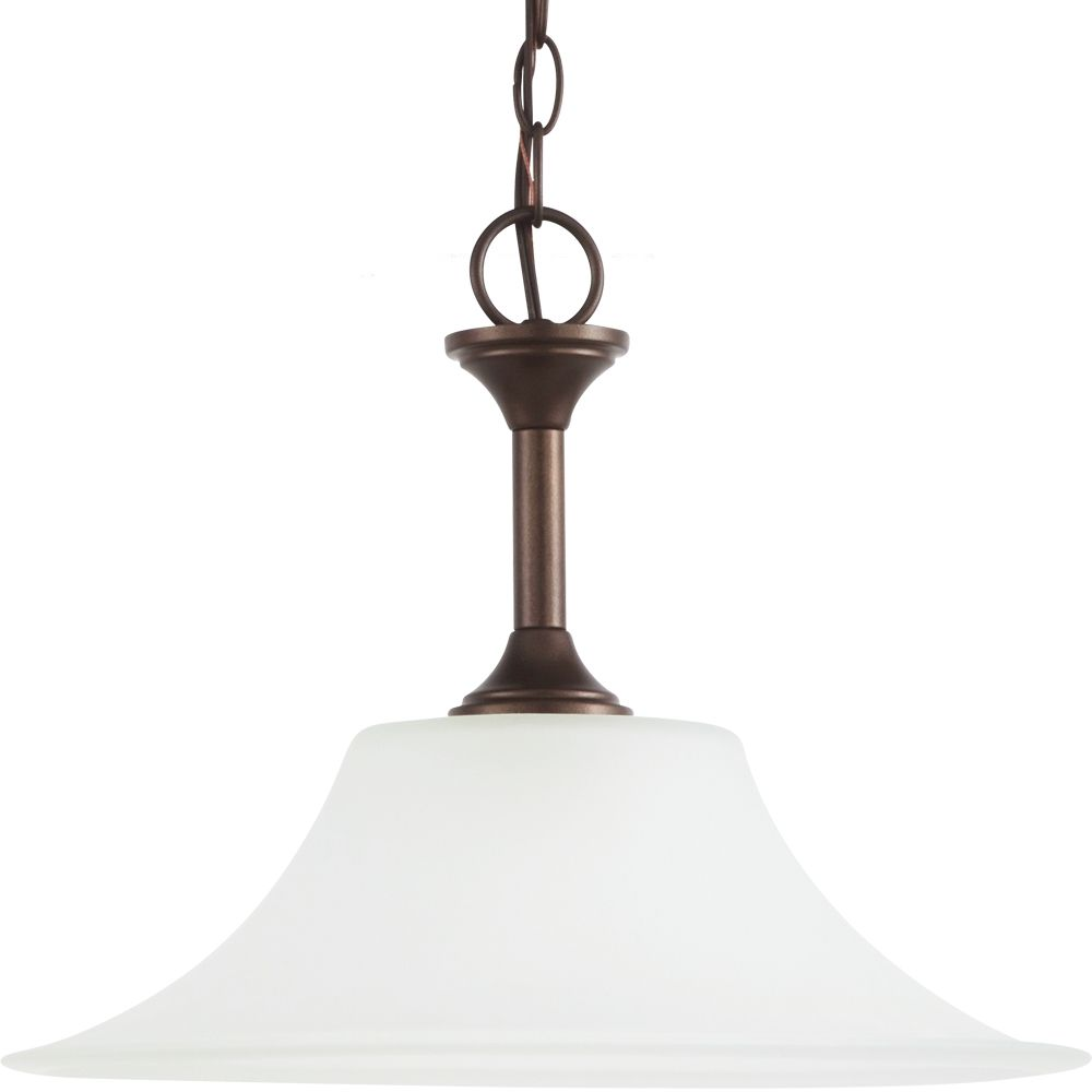 1-Light Bell Metal Bronze Pendant