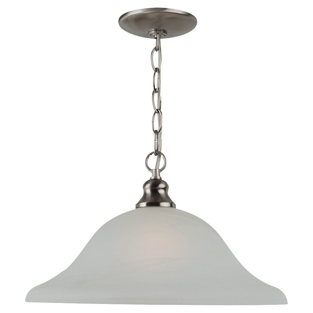 Sea Gull Lighting 1 Light Brushed Nickel Incandescent