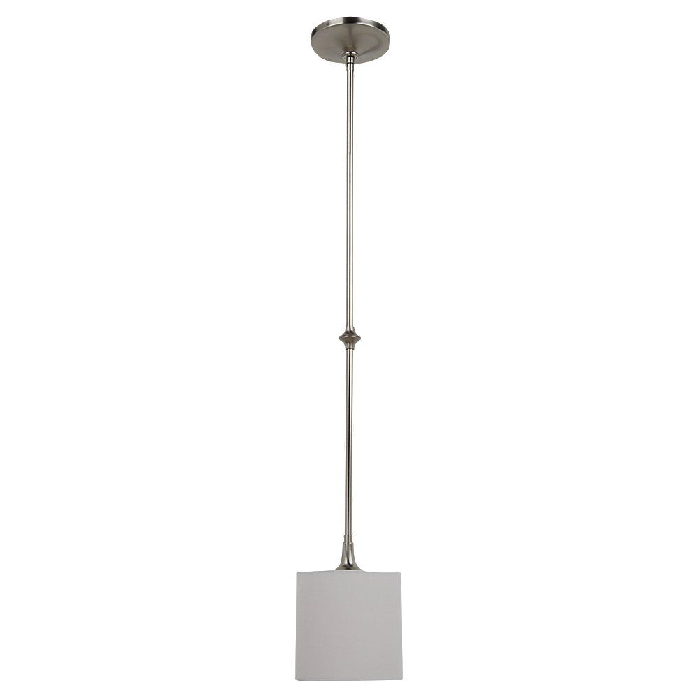 1-Light Brushed Nickel Pendant