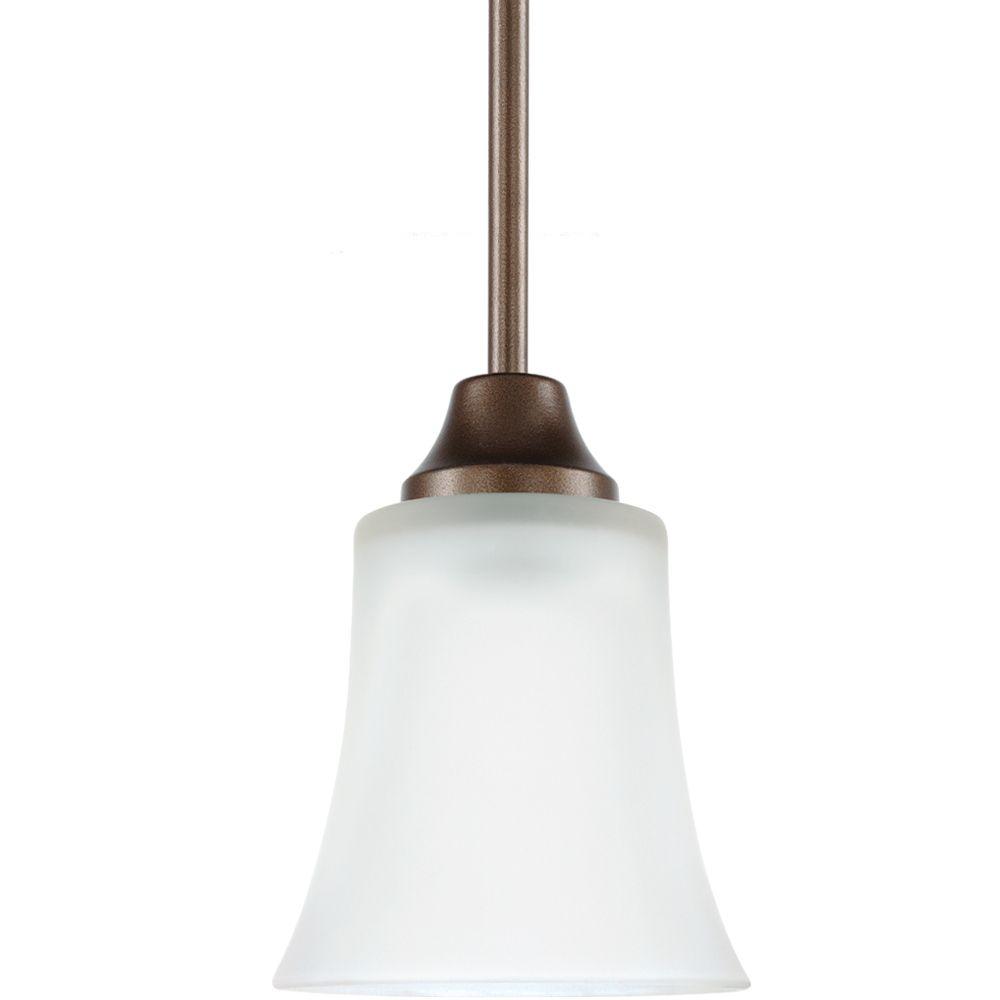 1 Light Bell Metal Bronze Fluorescent Pendant