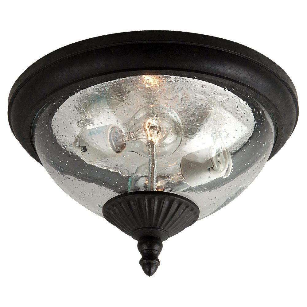 2-Light Oxford Bronze Outdoor Flush Mount