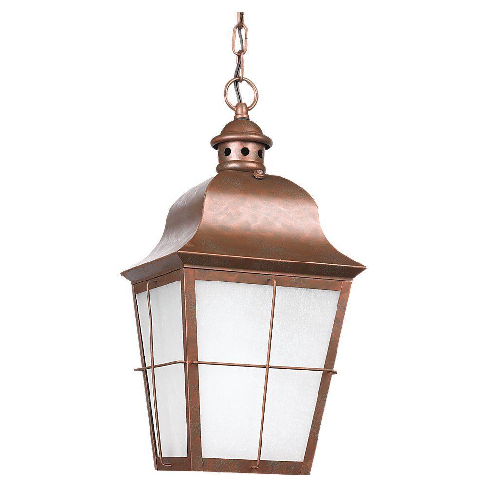 1 Lumière intempéries cuivre Fluorescent Pendant extérieure