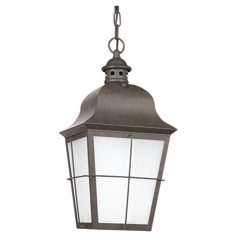 1 Light Oxidized Bronze Fluorescent Outdoor Pendant